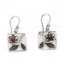 <strong>Novica</strong> The Wayan Asmana Artisan Garnet Bali Daisy Flower Earrings