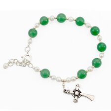 The Ritu Artisan Jaipur Fortunes Cultured Pearl and Aventurine Link Bracelet