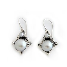The Kenari Artisan Cultured Pearl Exotic Gray Dangle Earrings