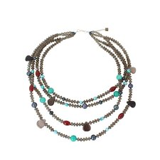The Nareerat Artisan Cultured Pearl and Agate Be Whimsical Beaded Necklace