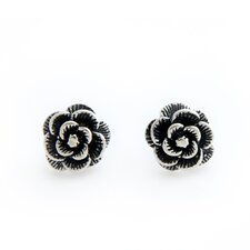 The Kenari Artisan Flower Balinese Rose Earrings