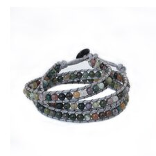 The Siriporn Artisan Rainforest Majesty Jasper Wrap Bracelet