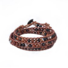 The Siriporn Artisan Caramel Sunset Jasper Wrap Bracelet
