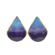 <strong>Novica</strong> The Danai Artisan Chiang Mai Sky Natural Orchid Petal Button Earrings