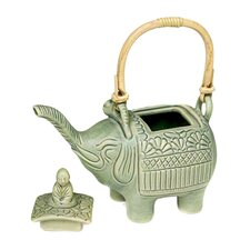 <strong>Novica</strong> 'Buddha and the Jade Elephant' Teapot Figurine