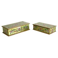 <strong>Novica</strong> 'Ruby' Boxes (Set of 2)