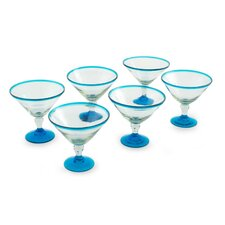 <strong>Novica</strong> The Javier and Efren Martini Glasses (Set of 6)