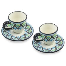 The Roberto Perez Ceramic Cup and Saucer (Set of 2)
