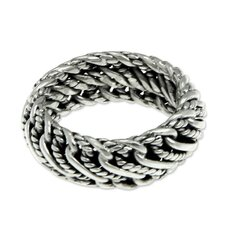 The Putu Putri Men's St208481erling Silver Band Ring