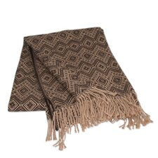 <strong>Novica</strong> The Jorge Prior Acrylic and Alpaca Throw Blanket