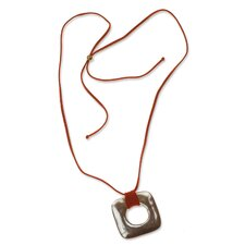 The Alessandra Foletti Leather Pendant Necklace