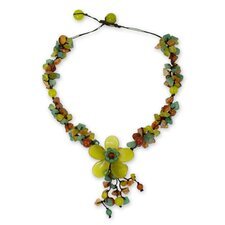The Nareerat Gemstone Flower Necklace