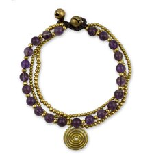 The Tiraphan Hasub Amethyst Beaded Wristband Bracelet