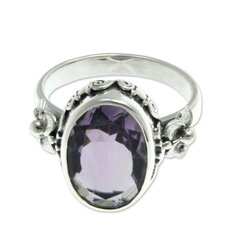 The Buana Sterling Silver Amethyst Solitaire Ring