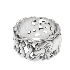 The Nyoman Rena Men's Sterling Silver Band Ring