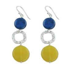 The Viji Prathap Lapis Lazuli Dangle Earrings