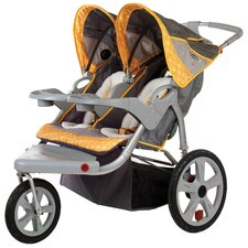 <strong>InSTEP</strong> Grand Safari Swivel Wheel Double Stroller