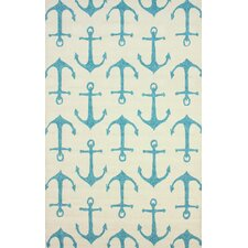 Air Libre White Ahoy Indoor/Outdoor Area Rug