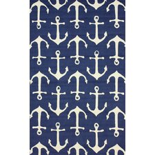 Air Libre Navy Ahoy Indoor/Outdoor Area Rug