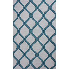 Novel Shelly Blue/White Area Rug