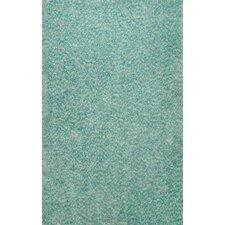 Glamour Green Viola Shag Rug