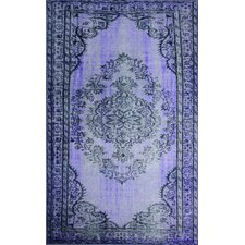 Remade Overdyed Purple Chroma Overdyed Style Rug