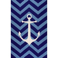 Novel Ingos Blue Area Rug