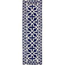 Varanas Navy Layla Runner Rug