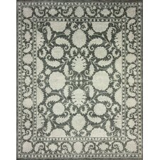 Overdyed Black Serche Rug