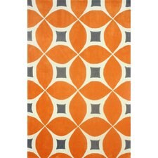 Barcelona Deep Orange Gabriela Area Rug