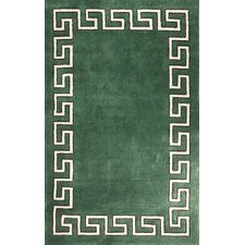 Block Island Green Hanz Faux Area Rug