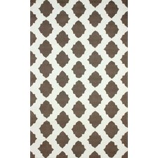 Heritage Ravi Dark Grey/White Geometric Area Rug
