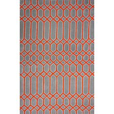 Europe Wendy Red/Grey Area Rug