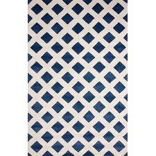 Filigree Blue Ombo Area Rug