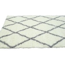 Shag Black & White Plush Area Rug
