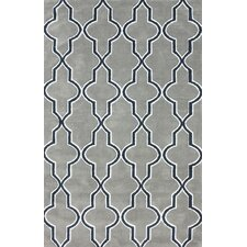 Block Island Grey Gretel Faux Area Rug