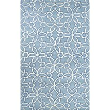Filigree Blue Hecha Area Rug
