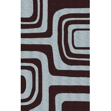 Pop Maze Chocolate Blue Rug