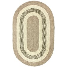 Cottage Outdoor Tan/Green Rug