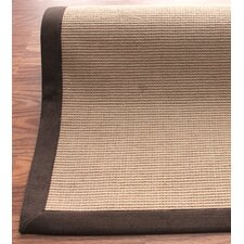 <strong>nuLOOM</strong> Natural Jute Cotton Brown Border Rug