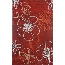 Pop Daisy Red Rug