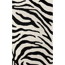 Earth Safari Black/Ivory Area Rug