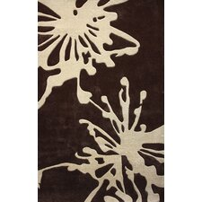 Barcelona Flower Burst Ivory/Brown Rug