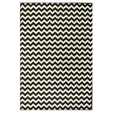 Kinder Chevron Ivory & Black Rug