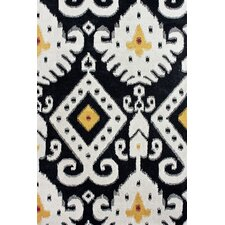 Pop Antiqued Ikat Midnight Rug