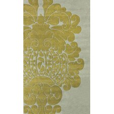 Bella Modern Damask Yellow Rug