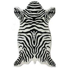 Safari White Zebra Novelty Area Rug