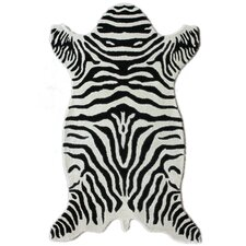 Safari White Zebra Rug