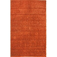 Shaggy Aura Zest Orange Area Rug