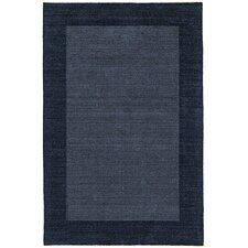 Fancy Denim Solid Trim Rug